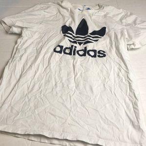 Adidas Black and White Short Sleeve T Large